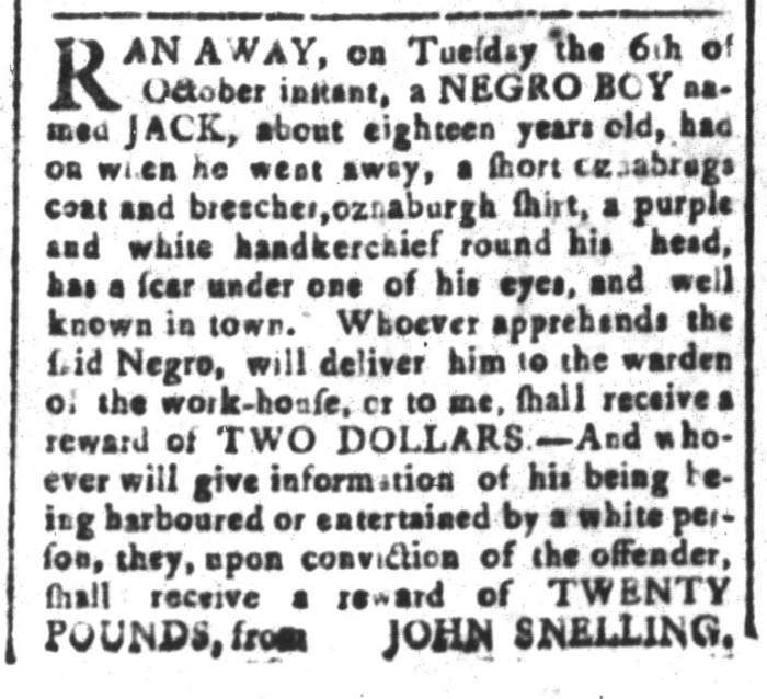 Oct 23 - South-Carolina and American General Gazette Slavery 3
