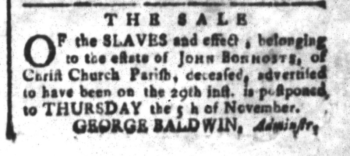 Oct 23 - South-Carolina and American General Gazette Slavery 5