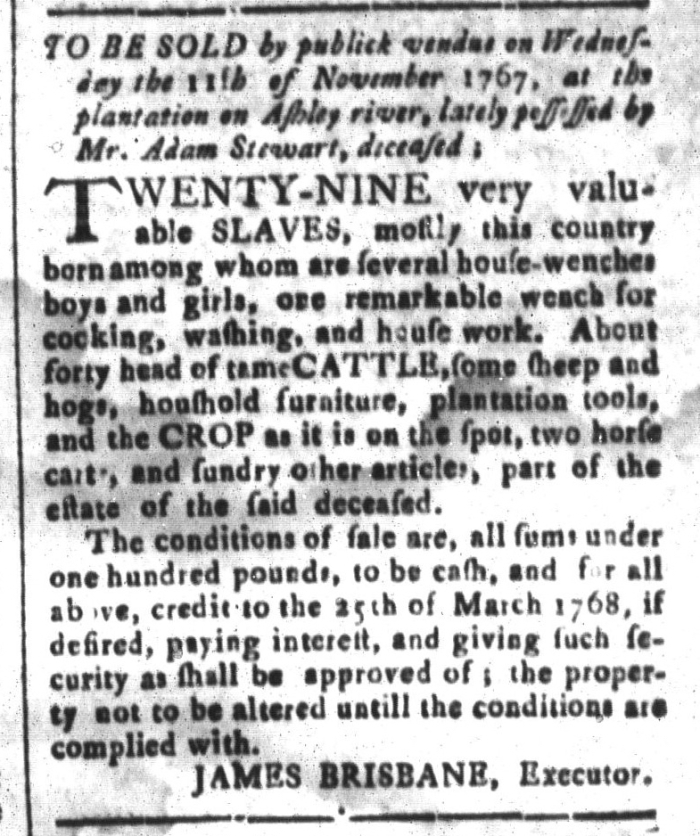 Oct 23 - South-Carolina and American General Gazette Slavery 7