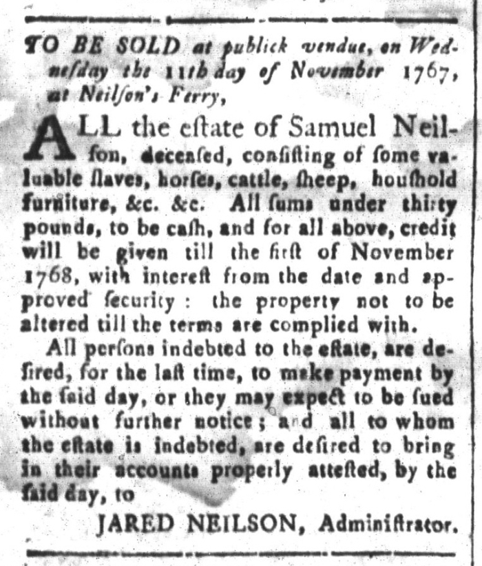 Oct 23 - South-Carolina and American General Gazette Slavery 9