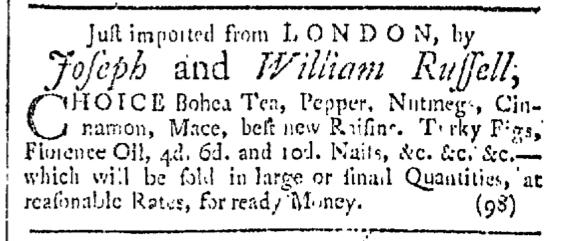 Oct 24 - 10:24:1767 Providence Gazette