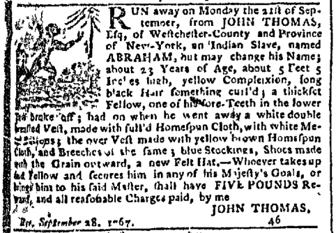 Oct 26 - New-York Gazette Slavery 1