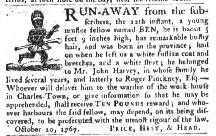 Oct 27 - South-Carolina Gazette and Country Journal Slavery 2