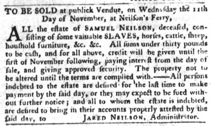 Oct 27 - South-Carolina Gazette and Country Journal Slavery 7
