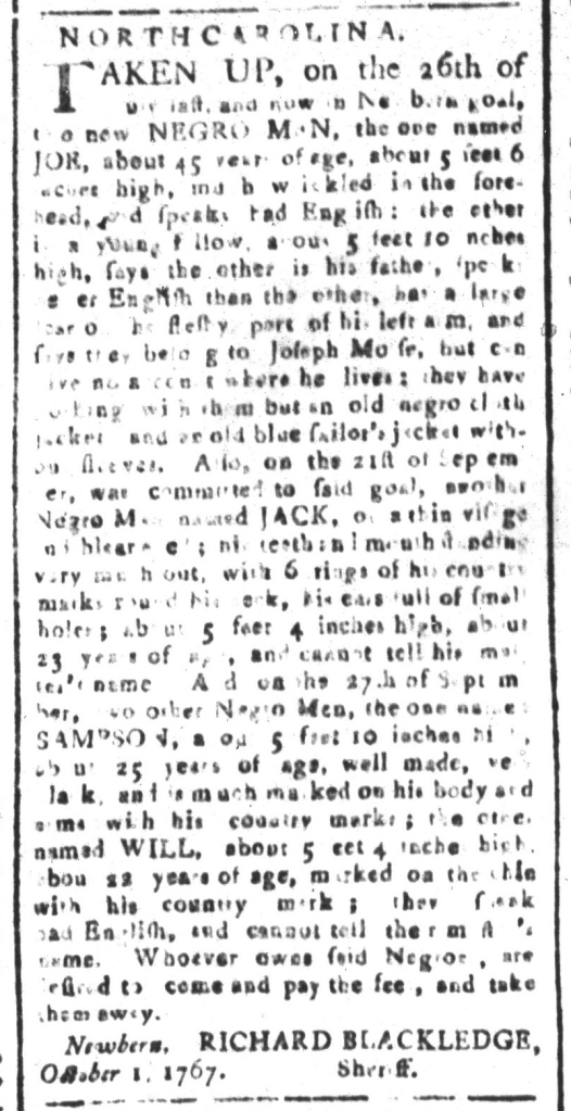 Oct 30 - South-Carolina and American General Gazette Slavery 2