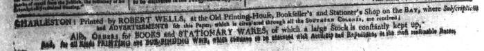 Oct 9 - 10:9:1767 South-Carolina and American General Gazette