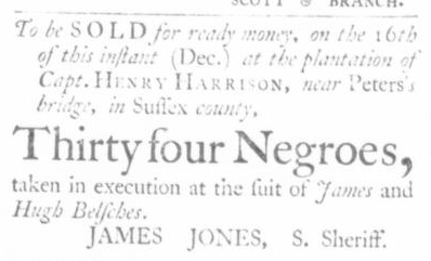 Dec 10 - Virginia Gazette Slavery 1