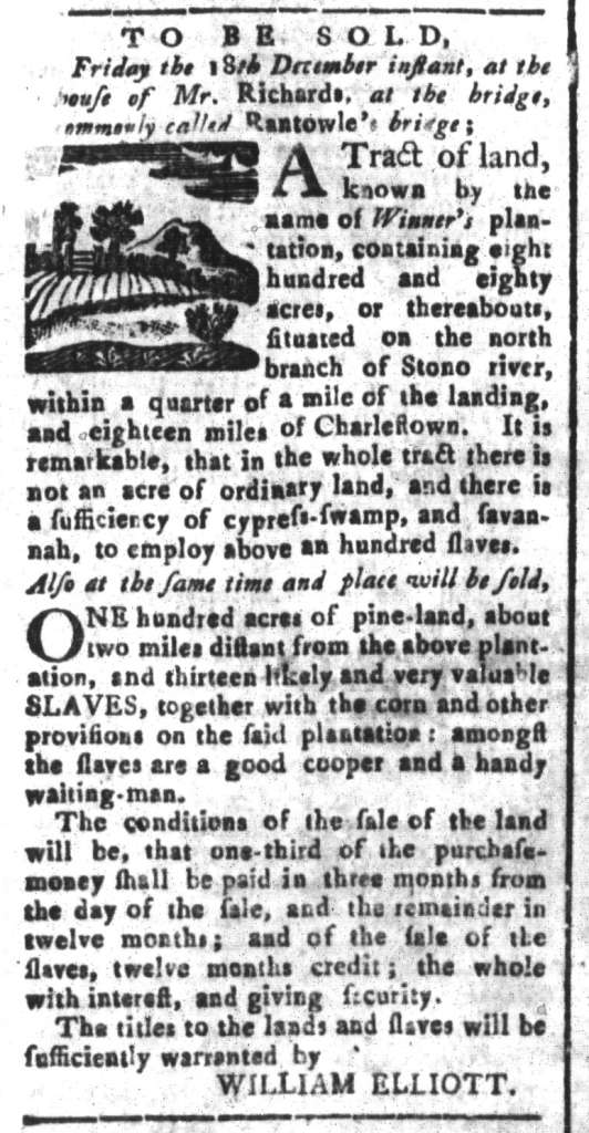 Dec 11 - South-Carolina and American General Gazette Slavery 5