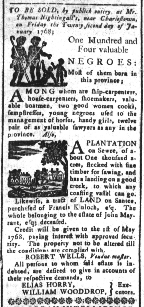 Dec 11 - South-Carolina and American General Gazette Slavery 6