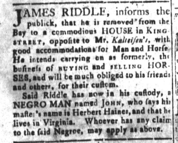 Dec 11 - South-Carolina and American General Gazette Slavery 8