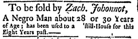 Dec 14 - Boston Evening-Post Slavery 1
