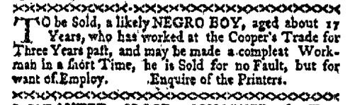 Dec 14 - Boston-Gazette Slavery 1