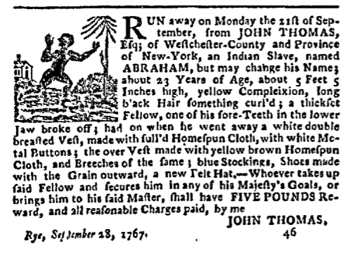 Dec 14 - New-York Gazette Slavery 1
