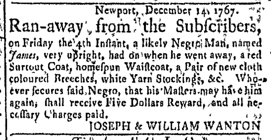 Dec 14 - Newport Mercury Slavery 1