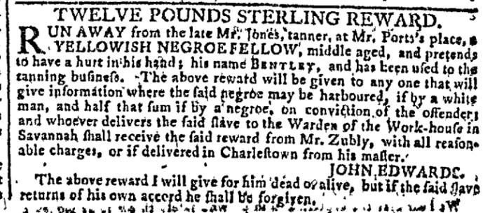 Dec 16 - Georgia Gazette Slavery 2