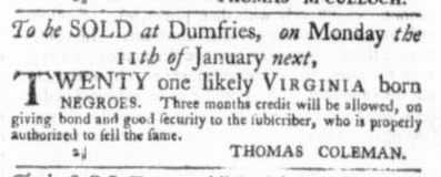 Dec 17 - Virginia Gazette Slavery 2