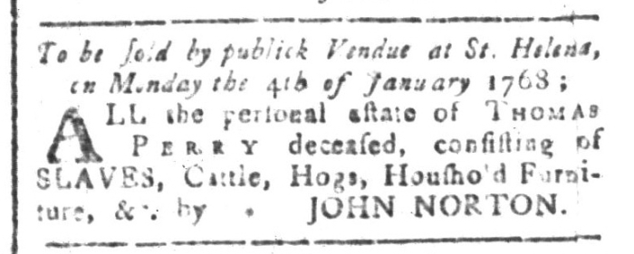 Dec 18 - South-Carolina and American General Gazette Slavery 1