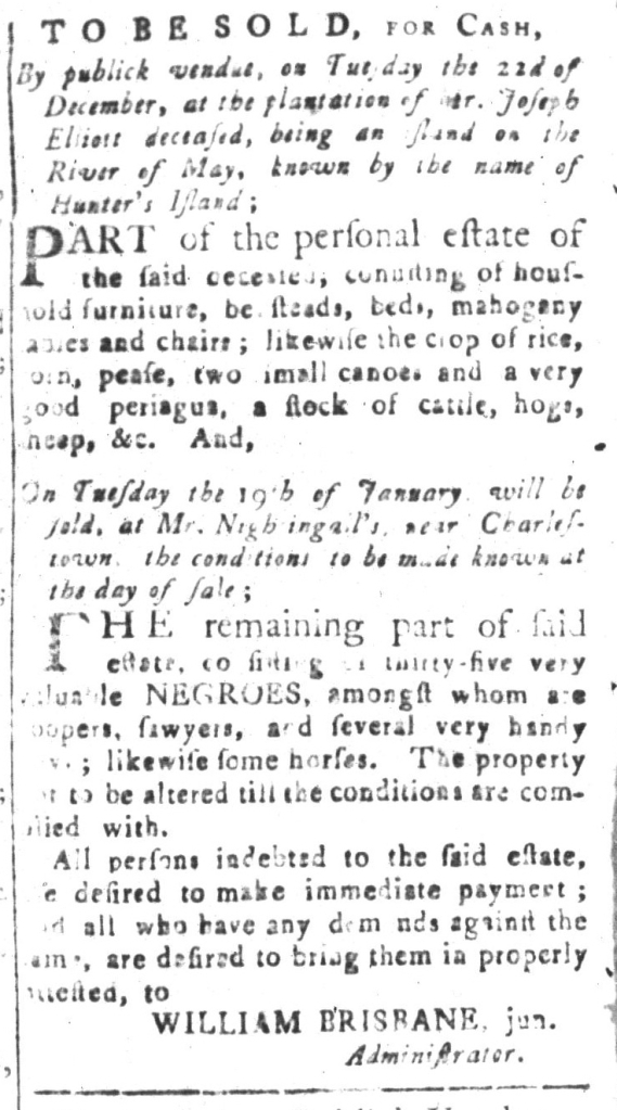 Dec 18 - South-Carolina and American General Gazette Slavery 12