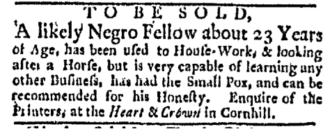 Dec 21 - Boston Evening-Post Slavery 3