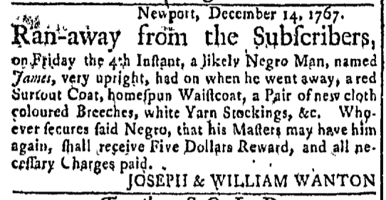 Dec 21 - Newport Mercury Slavery 1