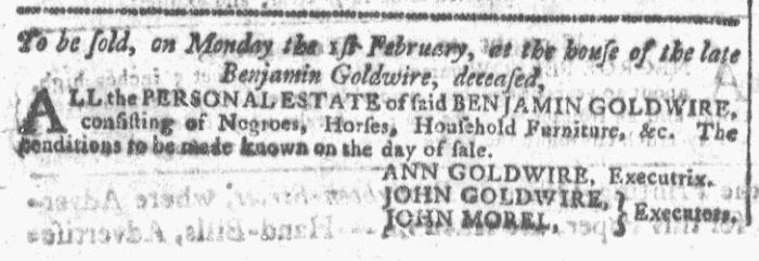 Dec 23 - Georgia Gazette Slavery 1
