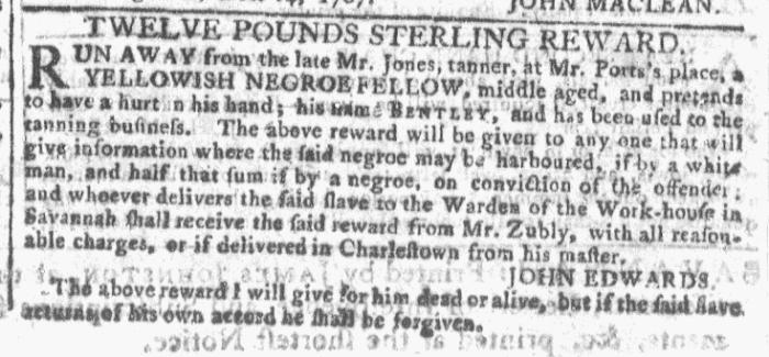 Dec 23 - Georgia Gazette Slavery 3