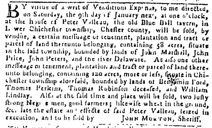 Dec 24 - Pennsylvania Gazette Slavery 1