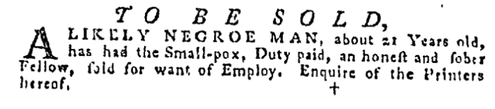 Dec 24 - Pennsylvania Gazette Supplement Slavery 3