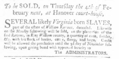 Dec 24 - Virginia Gazette P&D Slavery 7