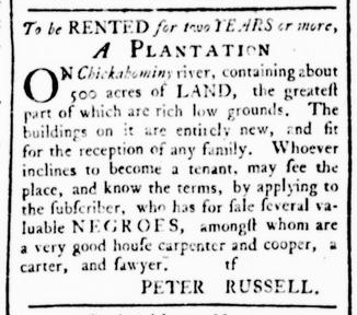 Dec 24 - Virginia Gazette Rind Slavery 6