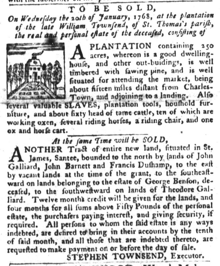 Dec 29 - South-Carolina Gazette and Country Journal Slavery 9