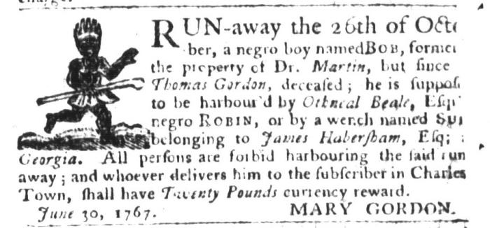 Dec 29 - South-Carolina Gazette and Country Journal Supplement Slavery 6