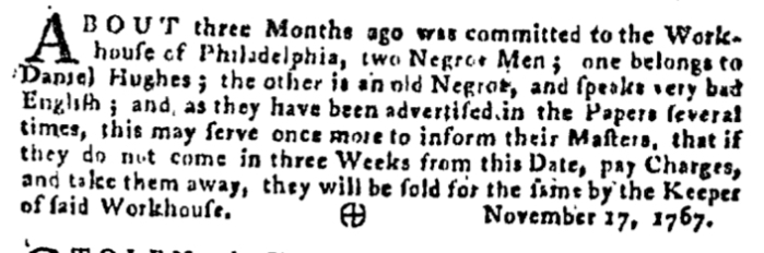 Dec 3 - Pennsylvania Gazette Supplement Slavery 3