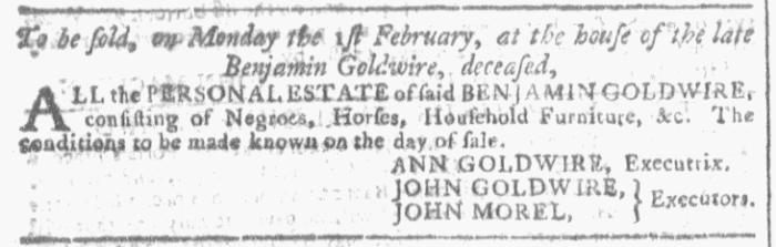 Dec 30 - Georgia Gazette Slavery 2