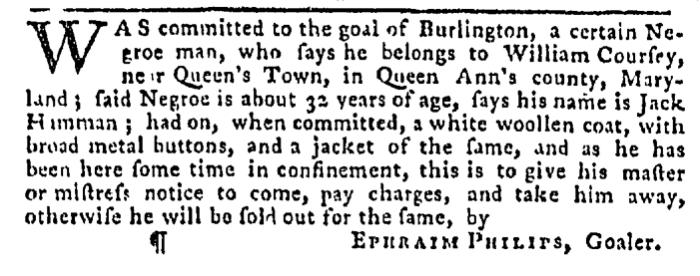 Dec 31 - Pennsylvania Gazette Slavery 1