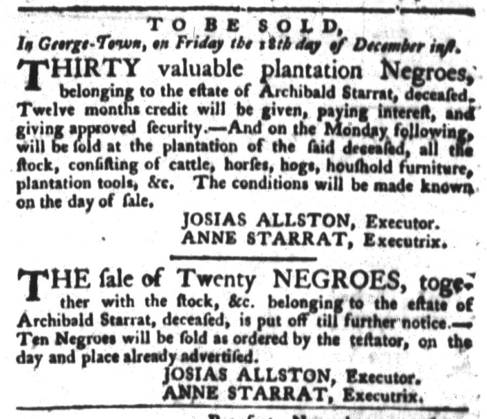 Dec 8 - South-Carolina Gazette and Country Journal Slavery 5