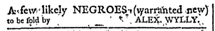 Dec 9 - Georgia Gazette Slavery 1