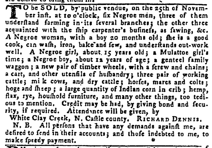 Nov 19 - Pennsylvania Gazette Slavery 2