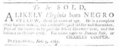 Nov 19 - Virginia Gazette Slavery 5