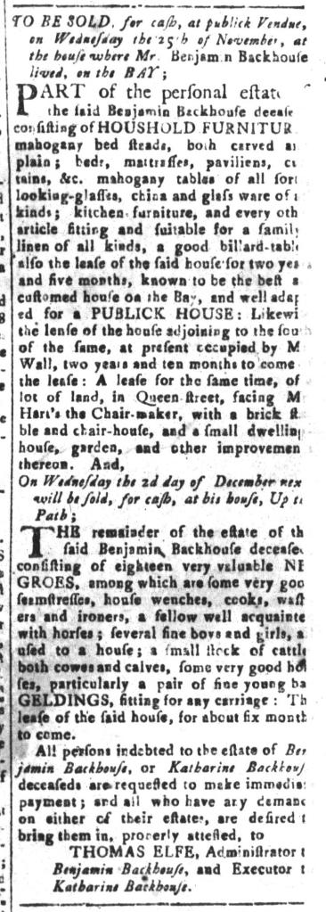Nov 20 - South-Carolina and American General Gazette Slavery 9