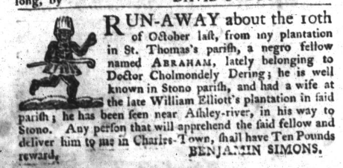 Nov 24 - South-Carolina Gazette and Country Journal Slavery 12