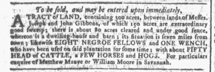 Nov 25 - Georgia Gazette Slavery 2
