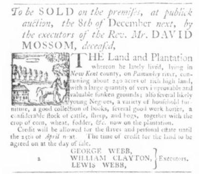 Nov 26 - Virginia Gazette Slavery 2