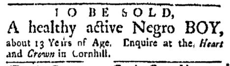 Nov 30 - Boston Evening-Post Slavery 2