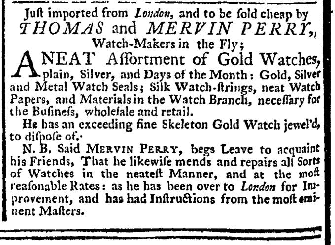 Nov 5 - 11:5:1767 New-York Gazette Weekly Post-Boy