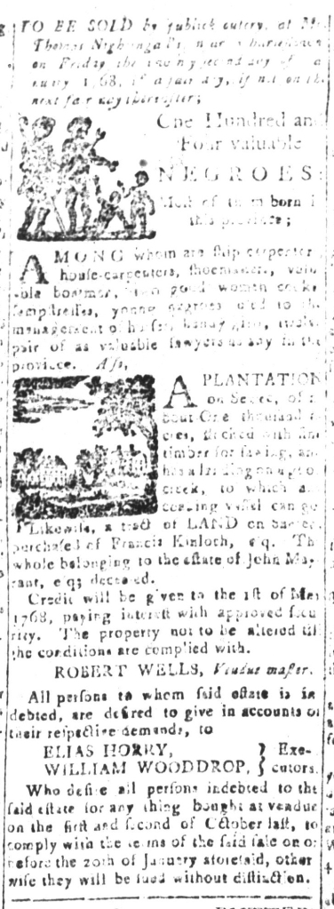 Jan 1 - South-Carolina and American General Gazette Slavery 11