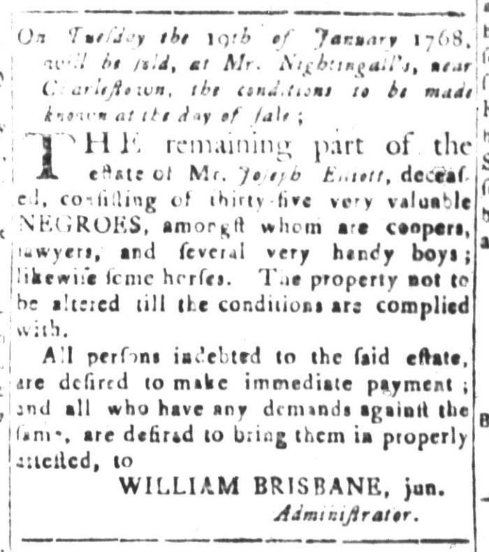 Jan 1 - South-Carolina and American General Gazette Slavery 6