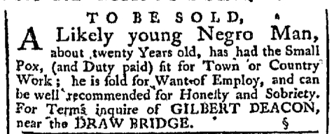 Feb 1 - Pennsylvania Chronicle Slavery 1