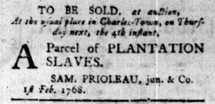 Feb 1 - South Carolina Gazette Slavery 6