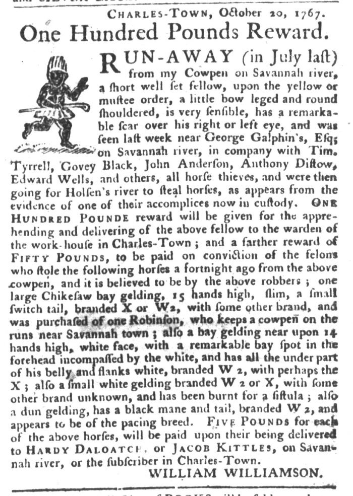 Feb 2 - South-Carolina Gazette and Country Journal Supplement Slavery 13